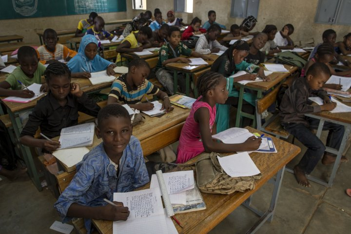 Picture of classroom in Mali